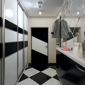 чёрно белая прихожая дизайн