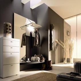 чёрно белая прихожая фото дизайна