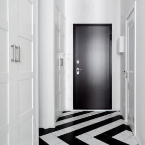 чёрно белая прихожая идеи декор