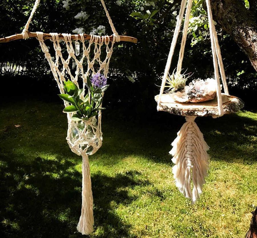 Декор садового участка плетенными изделиями