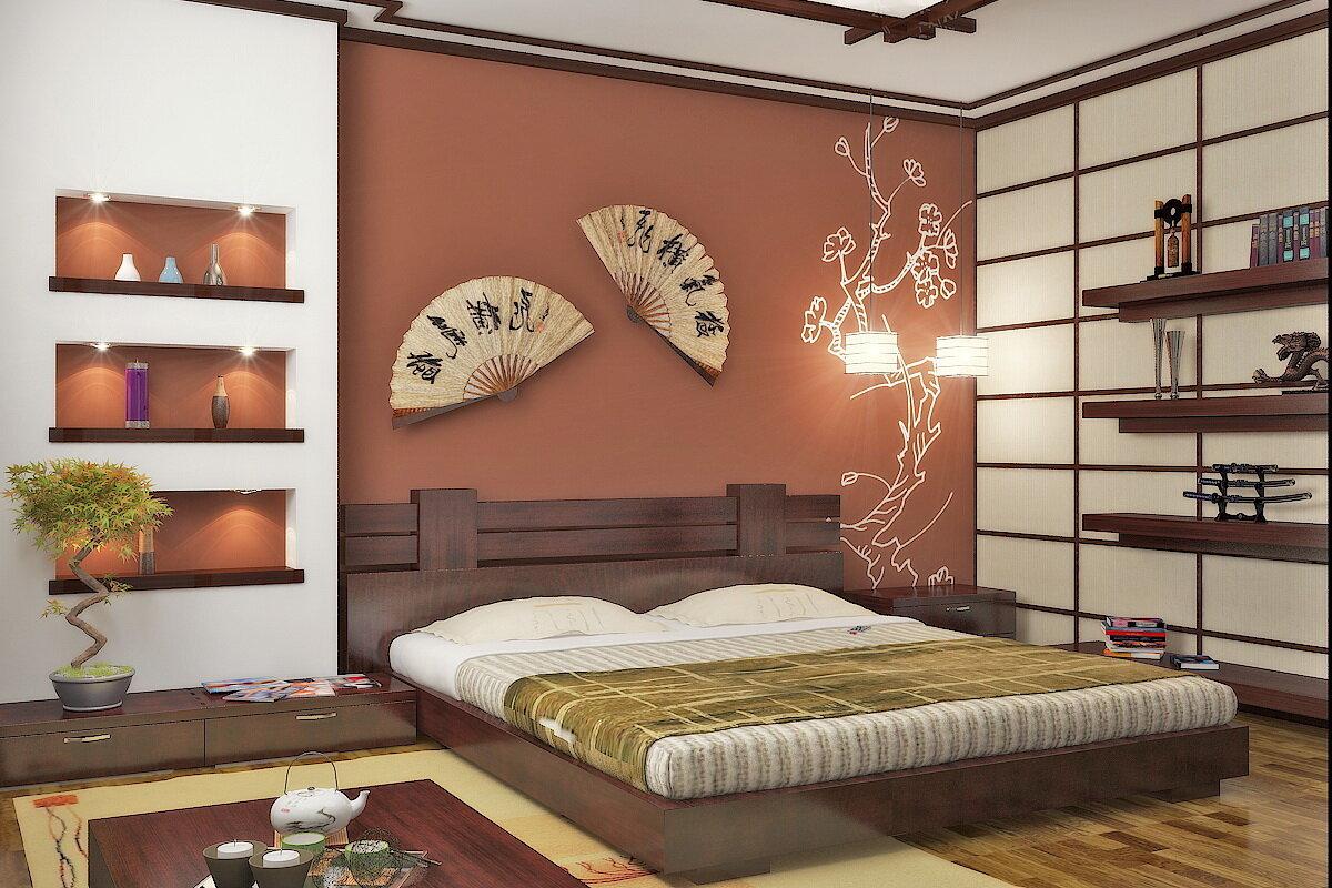 декор комнаты японский стиль