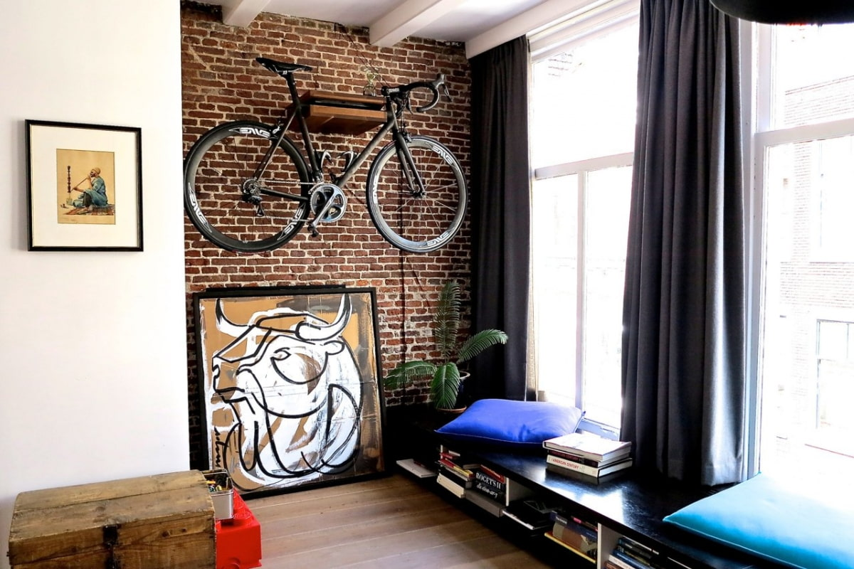 декор стен стиль лофт