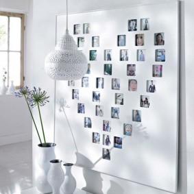 декор стены фотографиями фото идеи