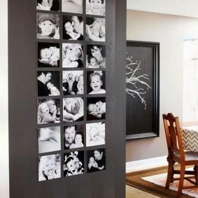 декор стены фотографиями идеи фото