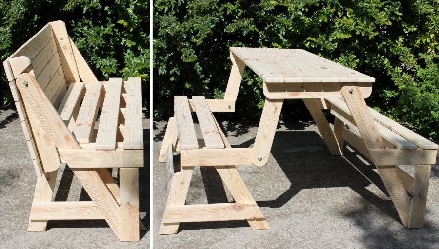 Садовая мебель-трансформер своими руками