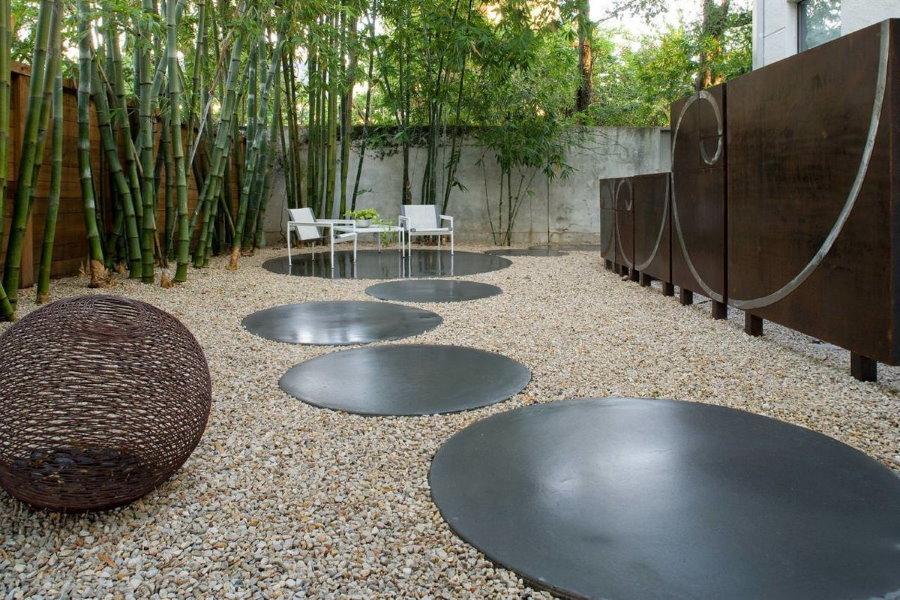 Ландшафтный дизайн сада в стиле хай-тек
