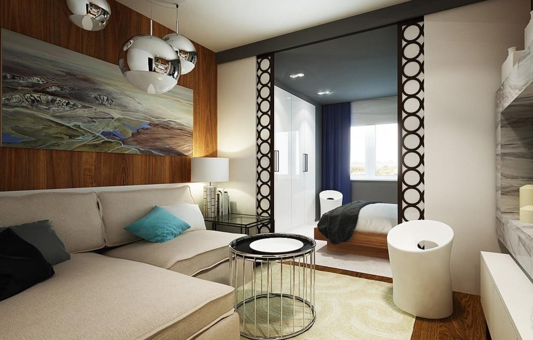 две комнаты в одной фото дизайн