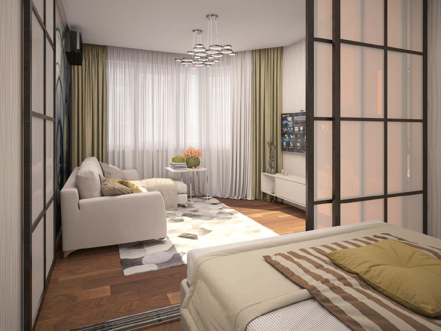 две комнаты в одной идеи дизайн
