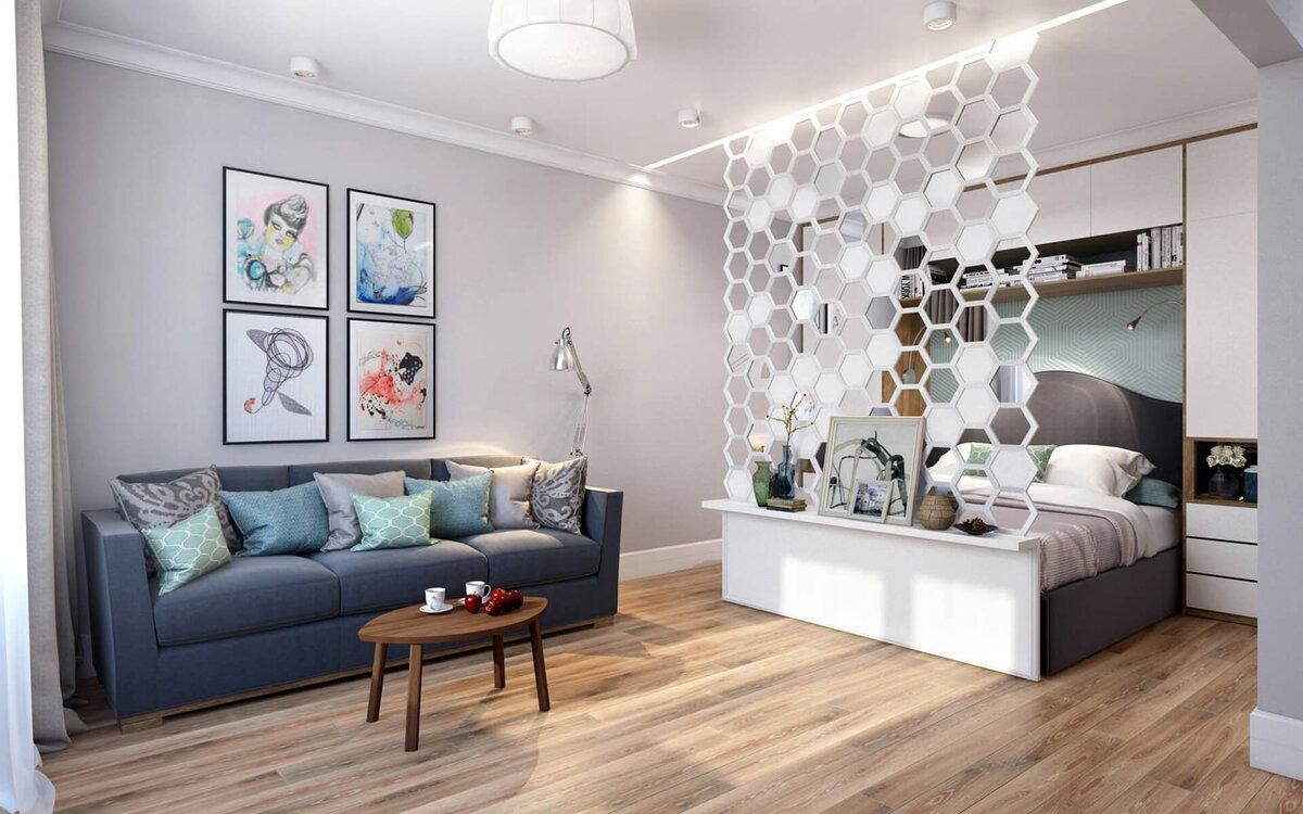 две комнаты в одной идеи дизайна