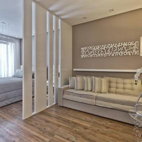 две комнаты в одной оформление интерьера