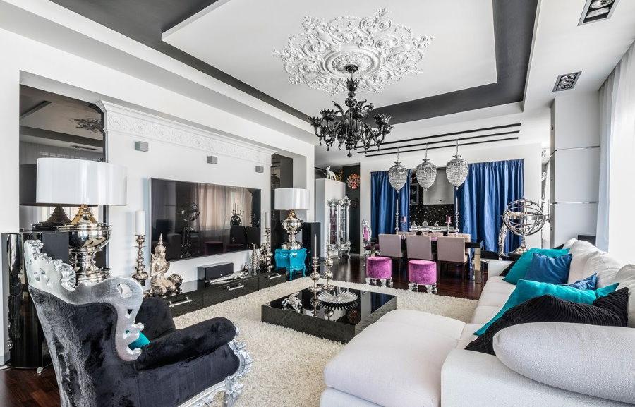 Светлая квартира в стиле арт-деко для большой семьи