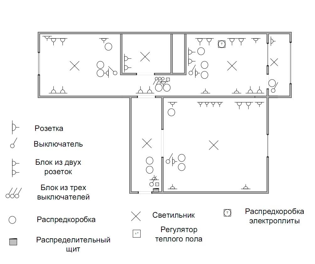 электрическая схема квартиры