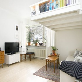 Двухъярусная квартира для молодой семьи