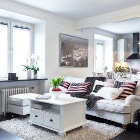 Зонирование мебель пространства квартиры