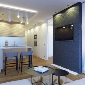 Барная стойка в кухне-гостиной