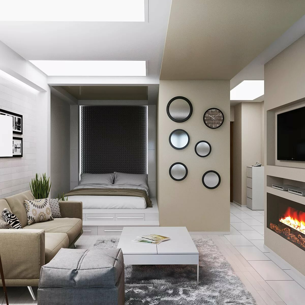 Покраска зала по дизайну фото