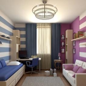 Интерьер комнаты для разнополых детей