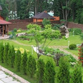 Фото озеленения загородного участка