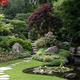 Узкая тропинка в глубь старого сада
