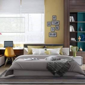 Дизайн интерьера спальни площадью 20 кв м