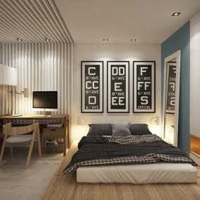 Декор спальни большого размера