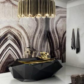 Черная ванна оригинального дизайна