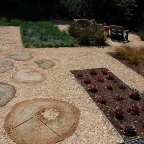 Гравийная площадка на дачном участке