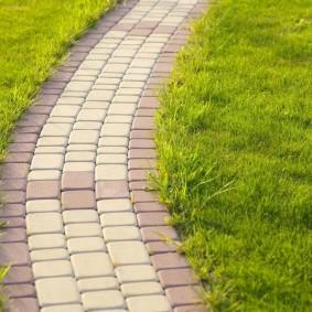Тротуарная плитка на садовой дорожке