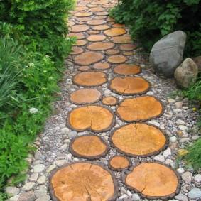 Цементная плитка с имитацией спилов дерева