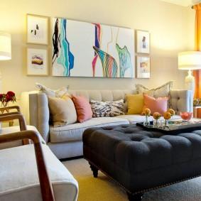Освещение зоны отдыха в гостиной комнате