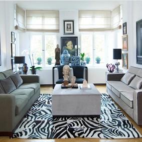 Дизайн гостевой комнаты с двумя диванами