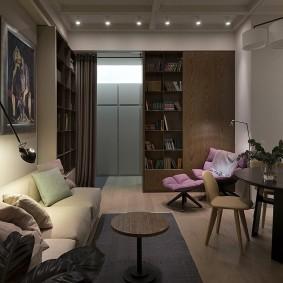 Подсветка функциональных зон в гостиной