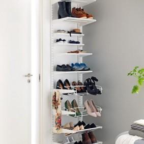 Стойка для обуви на металлическом каркасе