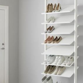 Стойка для обуви с наклонными полками
