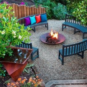 Садовая мебель из деревянных реек