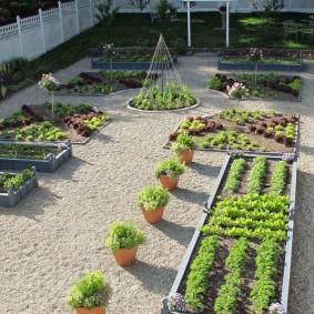 Современный огород с высокими грядками