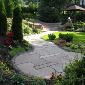 Ландшафтный дизайн загородного участка в регулярном стиле