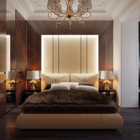 Стильная спальня в квартире панельного дома