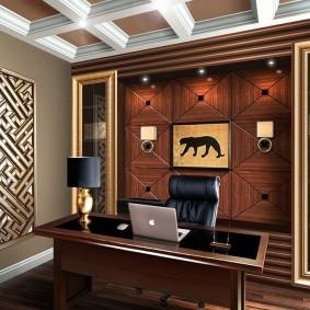 Стильный кабинет в городской квартире