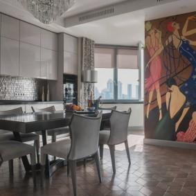 Декор стен авангардной живописью