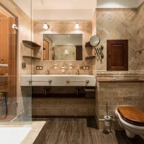 Шикарная ванная комната в городской квартире