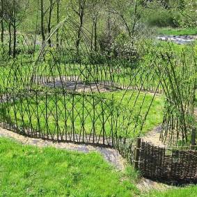 Зонирование сада живым забором