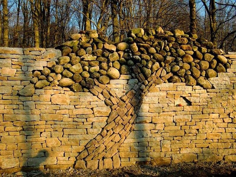 Каменные заборы картинки