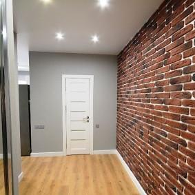 Подвесной потолок в прихожей прямоугольной формы