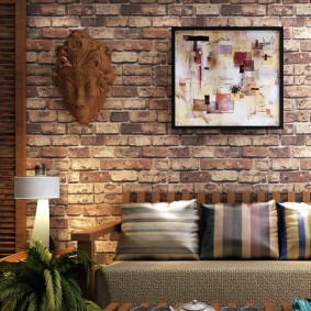 Декор стены комнаты в этническом стиле