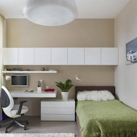Подвесные шкафы в комнате подростка