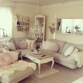 Уютная комната в духе французского прованса