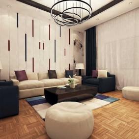 Зона отдыха гостиной в современном стиле