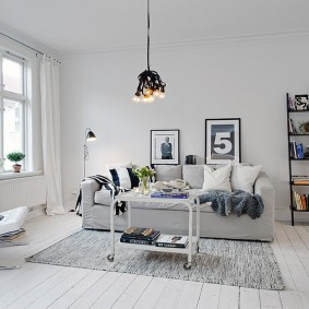 Меблировка гостиной в скандинавском стиле