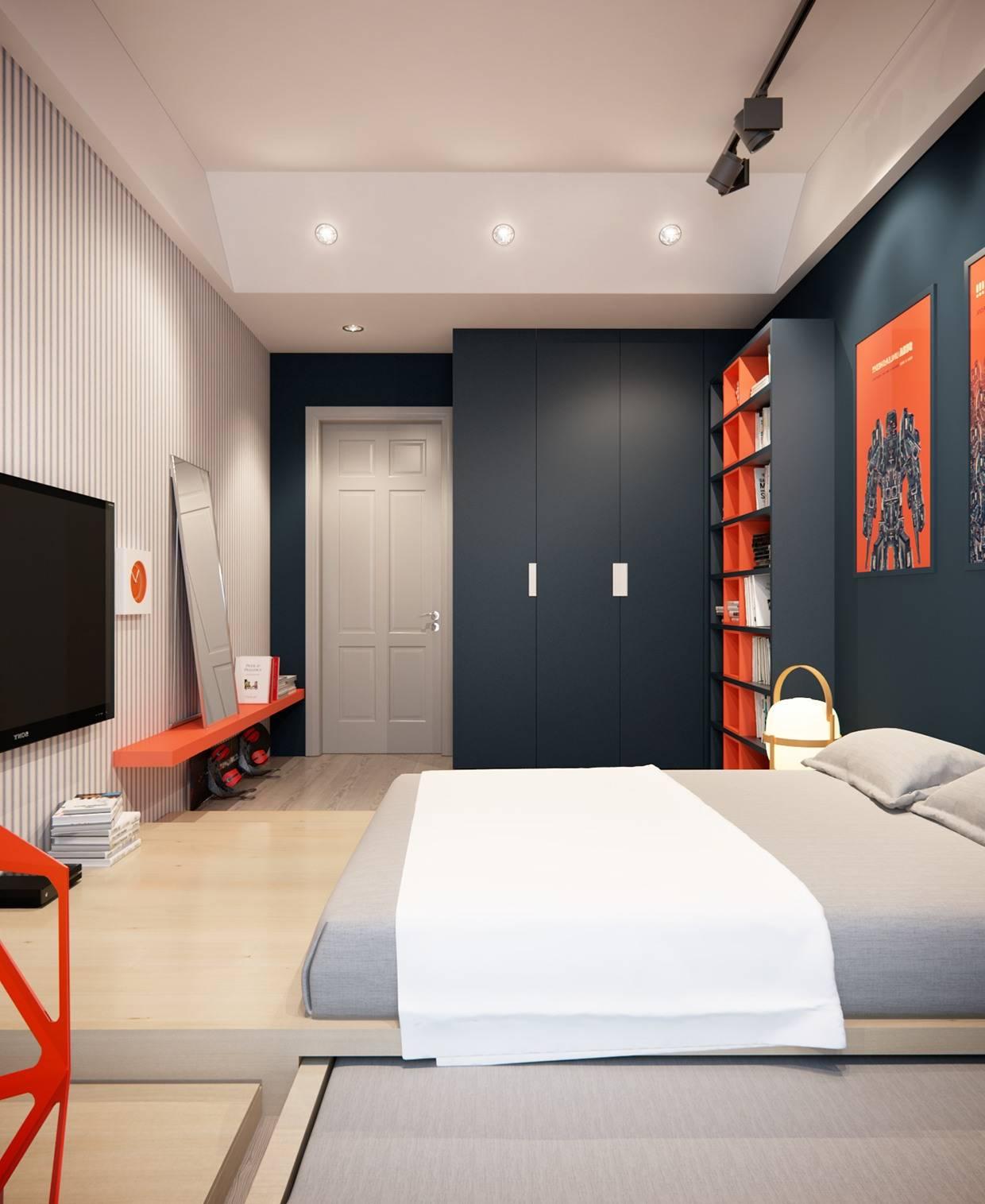 дизайн комнаты для мужчины фото съемные разделители, позволяют